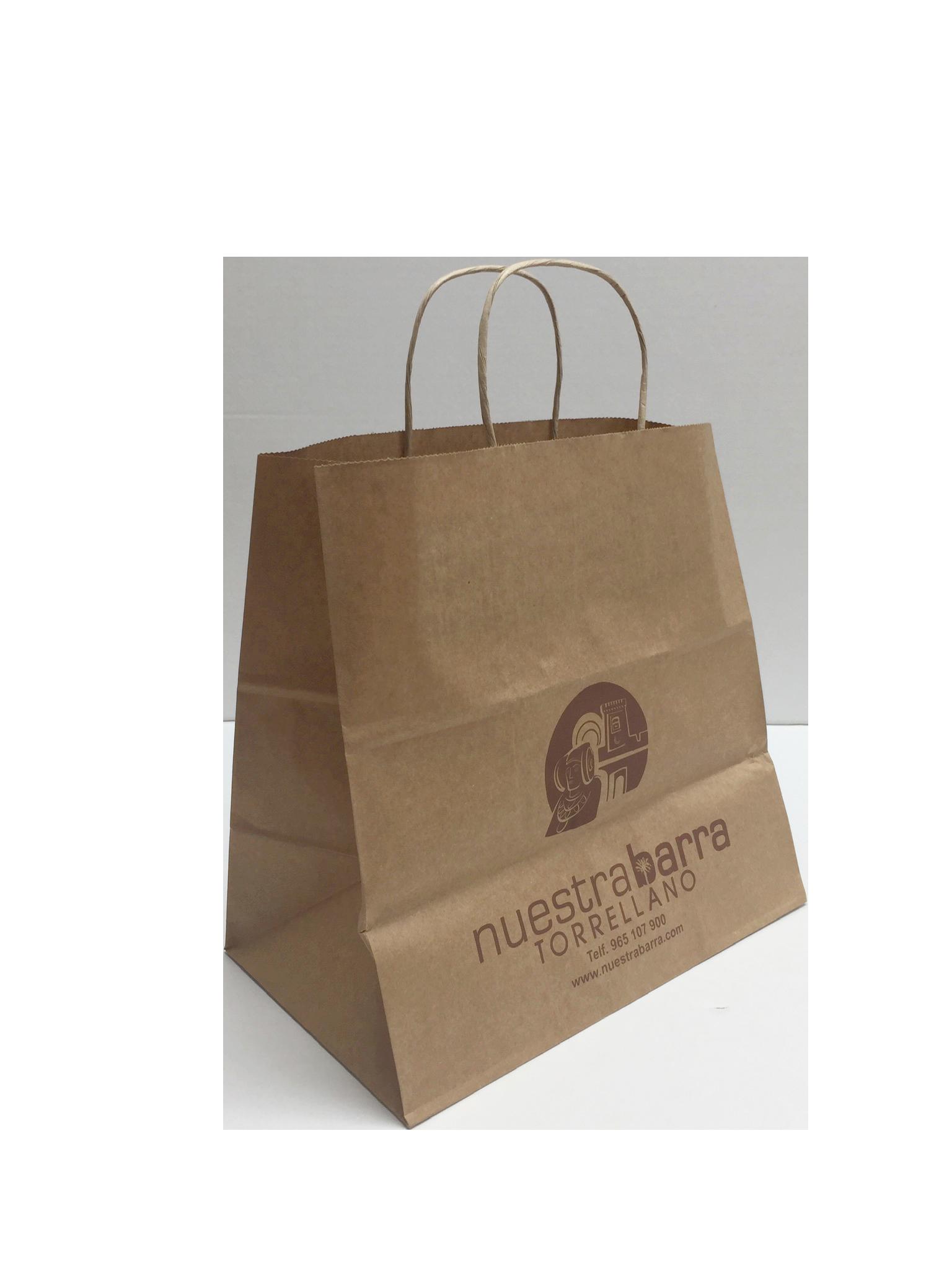 Bolsas de papel con asas rizadas