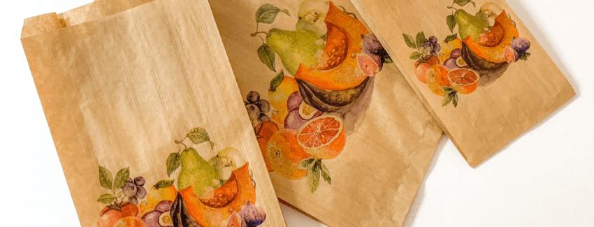 bolsa de papel para frutas
